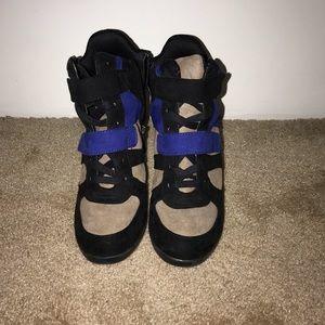 Vera Wang Hightop Sneaker Wedges